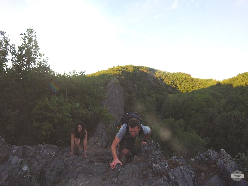 Panorama sur le rocher du Hérou Point de vue Sentier technique