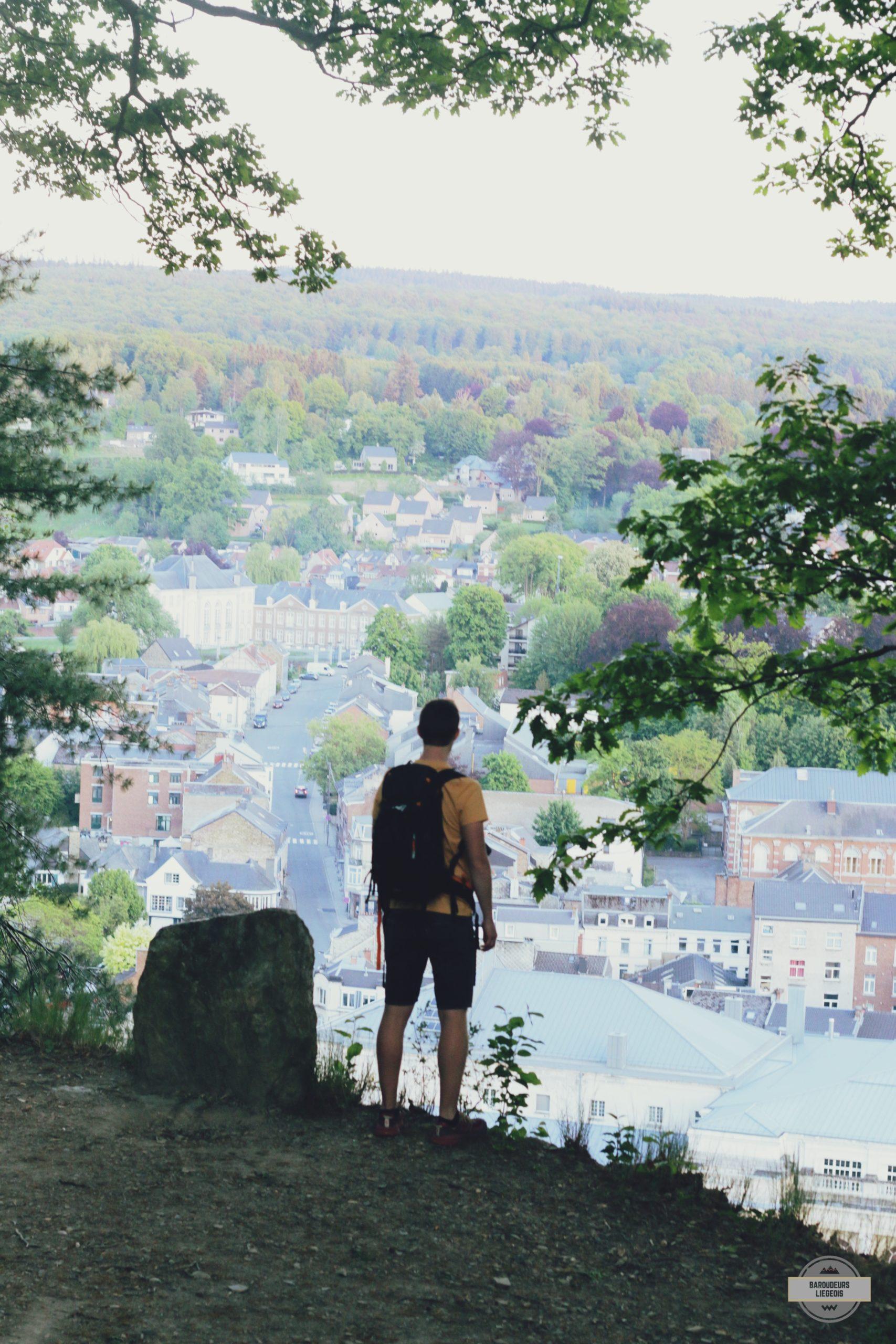 table d'orientation spa, panorama, vue sur la ville