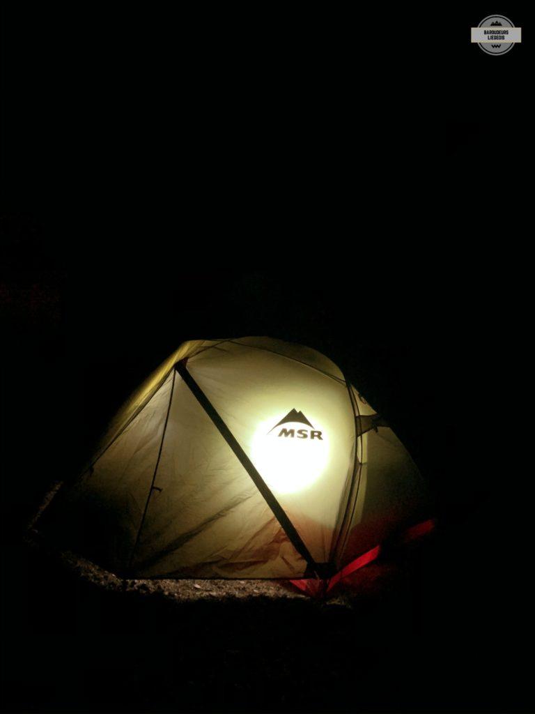 randonnée bivouac tente nuit