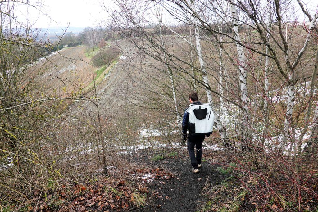 Paysages fait de champs, lande et bois au parc du Ry-Ponet