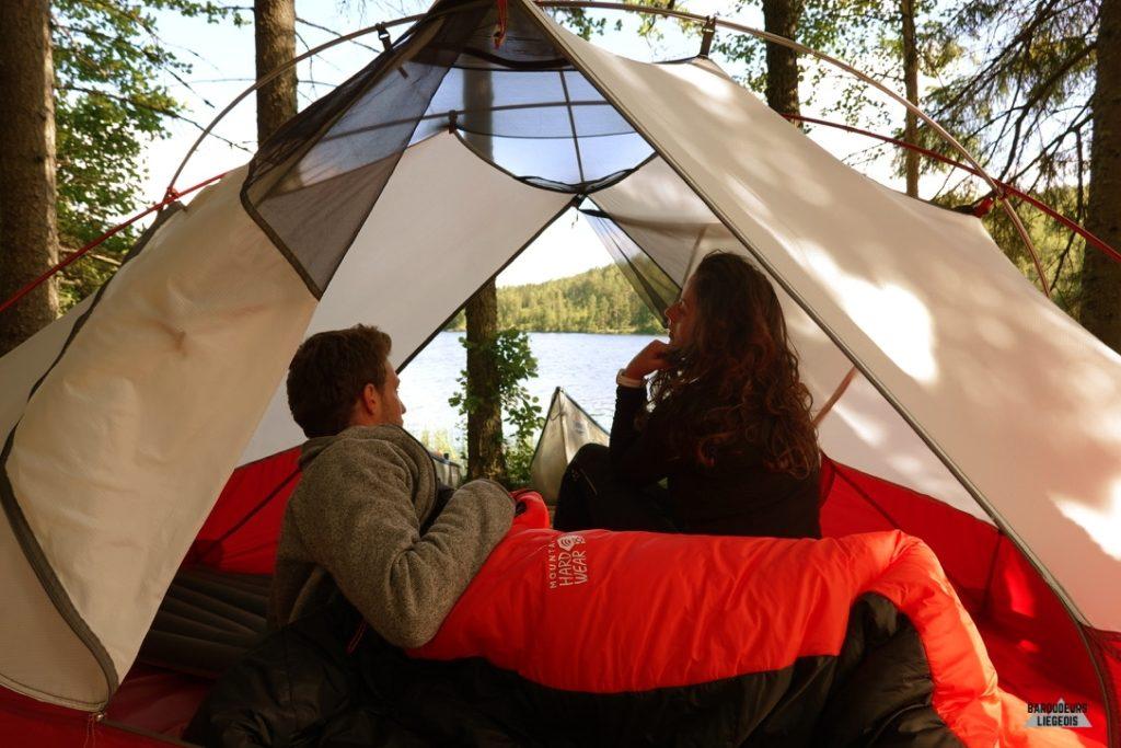 matériel utile pour le Canoë Trip Värmland suède la tente 3 saisons msr
