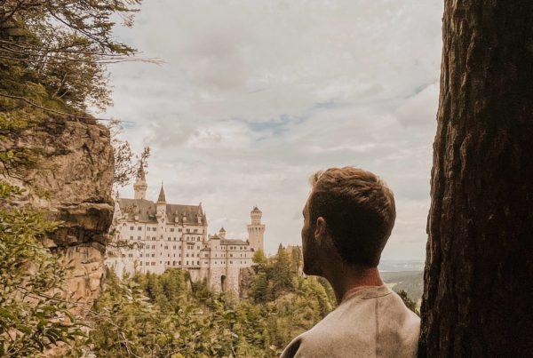 point de vue sur le château de Neuschwanstein
